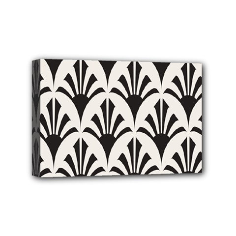 Parade Art Deco Style Neutral Vinyl Mini Canvas 6  X 4  by Mariart