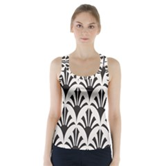 Parade Art Deco Style Neutral Vinyl Racer Back Sports Top by Mariart