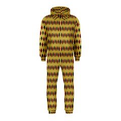 Points Cells Paint Texture Plaid Triangle Polka Hooded Jumpsuit (kids)