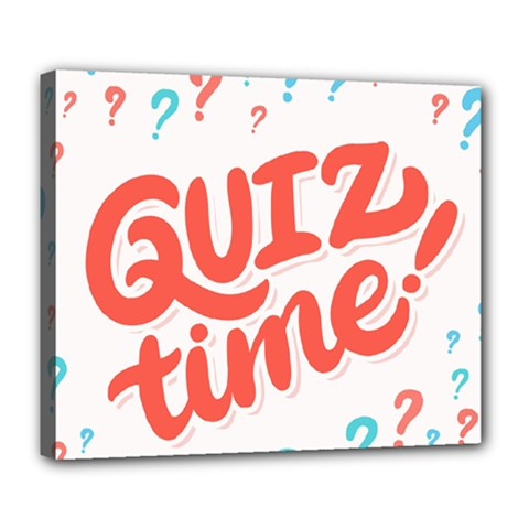 Question Mark Quiz Time Deluxe Canvas 24  X 20   by Mariart