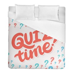 Question Mark Quiz Time Duvet Cover (full/ Double Size) by Mariart