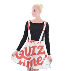 Question Mark Quiz Time Suspender Skater Skirt by Mariart