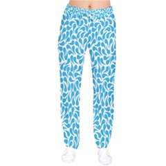Pattern Blue Drawstring Pants
