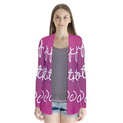 Valentine Happy Mothers Day Pink Heart Love Cardigans by Mariart