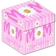 Valentine Happy Mothers Day Pink Heart Love Sunflower Flower Storage Stool 12   by Mariart