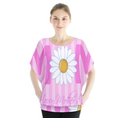 Valentine Happy Mothers Day Pink Heart Love Sunflower Flower Blouse by Mariart