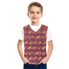 Linje Chevron Blue Yellow Brown Kids  Sportswear by Mariart