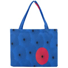 Pink Umbrella Red Blue Mini Tote Bag by Mariart