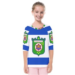 Flag Of Tel Aviv  Kids  Quarter Sleeve Raglan Tee by abbeyz71