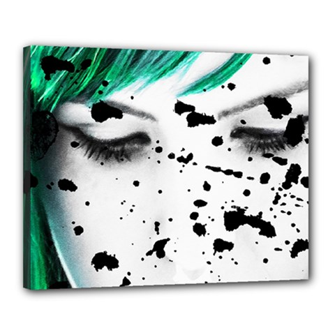 Beauty Woman Close Up Artistic Portrait Canvas 20  X 16  by dflcprints