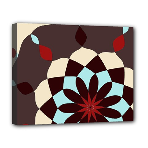 Red And Black Flower Pattern Deluxe Canvas 20  X 16   by digitaldivadesigns