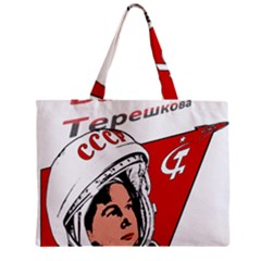 Valentina Tereshkova Zipper Mini Tote Bag by Valentinaart
