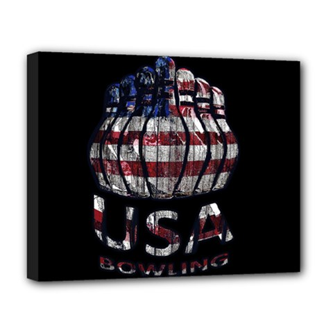 Usa Bowling  Deluxe Canvas 20  X 16