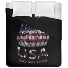Usa Bowling  Duvet Cover Double Side (california King Size) by Valentinaart