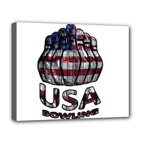 Usa Bowling  Deluxe Canvas 20  X 16   by Valentinaart