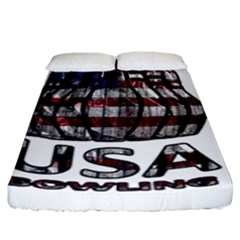 Usa Bowling  Fitted Sheet (king Size) by Valentinaart