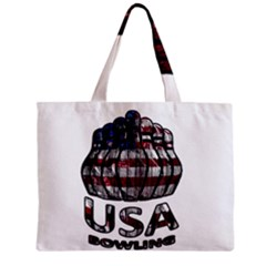 Usa Bowling  Zipper Mini Tote Bag by Valentinaart