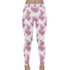 Colorful Cute Floral Design Pattern Classic Yoga Leggings by dflcprintsclothing