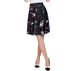Space Pattern A Line Skirt