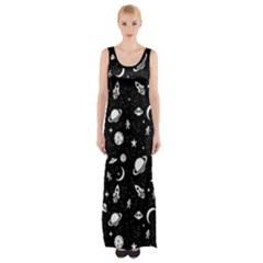 Space Pattern Maxi Thigh Split Dress by Valentinaart