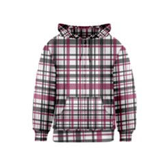 Plaid Pattern Kids  Zipper Hoodie