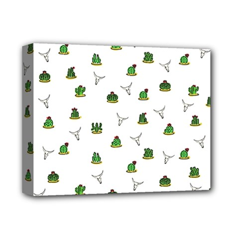 Cactus Pattern Deluxe Canvas 14  X 11  by Valentinaart
