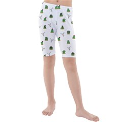 Cactus Pattern Kids  Mid Length Swim Shorts by Valentinaart