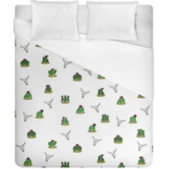 Cactus Pattern Duvet Cover (california King Size) by Valentinaart