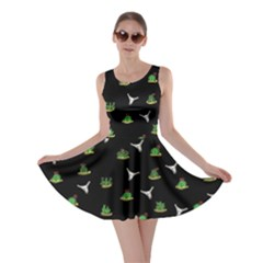 Cactus Pattern Skater Dress by Valentinaart