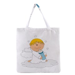 Angel Baby Bottle Cute Sweet Grocery Tote Bag