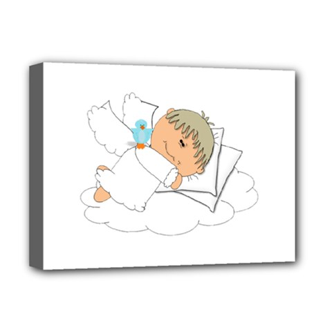 Sweet Dreams Angel Baby Cartoon Deluxe Canvas 16  X 12   by Nexatart