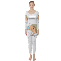 Sweet Dreams Angel Baby Cartoon Long Sleeve Catsuit by Nexatart