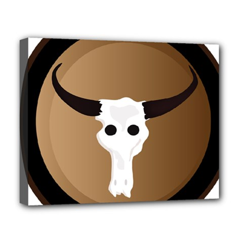 Logo The Cow Animals Deluxe Canvas 20  X 16   by Nexatart