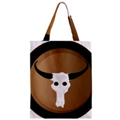 Logo The Cow Animals Zipper Classic Tote Bag by Nexatart
