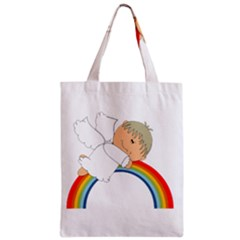 Angel Rainbow Cute Cartoon Angelic Zipper Classic Tote Bag by Nexatart