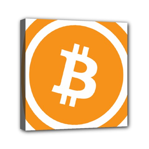 Bitcoin Cryptocurrency Currency Mini Canvas 6  X 6  by Nexatart