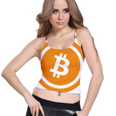 Bitcoin Cryptocurrency Currency Spaghetti Strap Bra Top