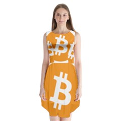 Bitcoin Cryptocurrency Currency Sleeveless Chiffon Dress