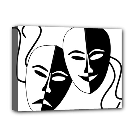 Theatermasken Masks Theater Happy Deluxe Canvas 16  X 12   by Nexatart