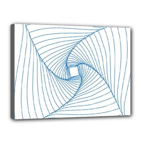 Spirograph Pattern Drawing Design Canvas 16  X 12  by Nexatart