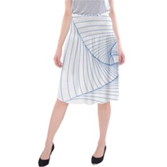 Spirograph Pattern Drawing Design Midi Beach Skirt by Nexatart