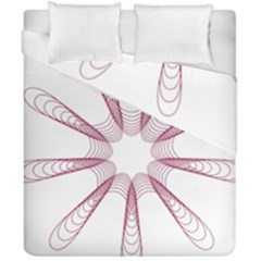 Spirograph Pattern Circle Design Duvet Cover Double Side (california King Size) by Nexatart
