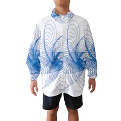 Spirograph Pattern Drawing Design Blue Wind Breaker (kids) by Nexatart