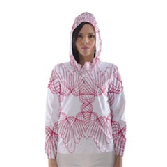 Spirograph Pattern Drawing Design Hooded Wind Breaker (women)
