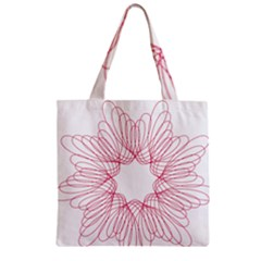 Spirograph Pattern Drawing Design Zipper Grocery Tote Bag