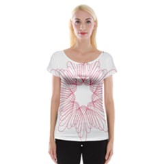 Spirograph Pattern Drawing Design Women s Cap Sleeve Top