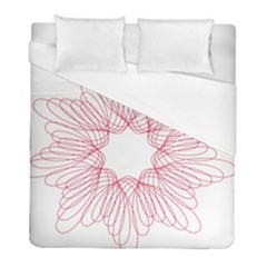 Spirograph Pattern Drawing Design Duvet Cover (full/ Double Size) by Nexatart