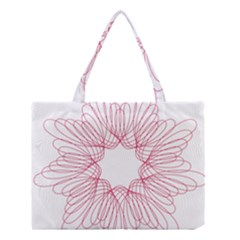 Spirograph Pattern Drawing Design Medium Tote Bag by Nexatart