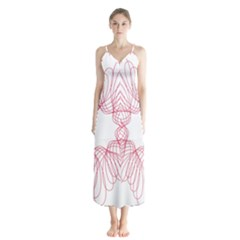 Spirograph Pattern Drawing Design Chiffon Maxi Dress by Nexatart