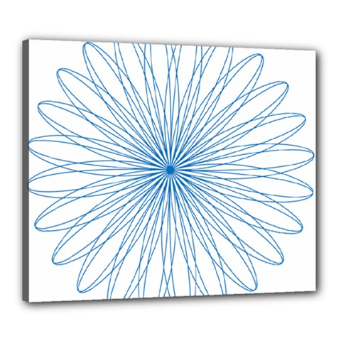 Spirograph Pattern Circle Design Canvas 24  X 20  by Nexatart